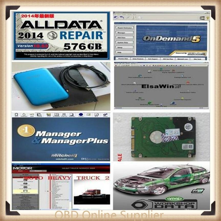 2019 Hot Auto Repair Alldata Software V10 53 mitchell on demand 5 software 2015 usb hard
