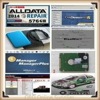 2019 Hot Auto Repair Alldata Software V10.53+mitchell on demand 5 software 2015 usb hard disk all data free shipping