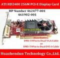Chegam novas ATI HD2400 256 M PCI-E Placa de Vídeo Cabo Adaptador de Distribuição DMS-59Pin dois escolher um Suporte Dual Screen Display