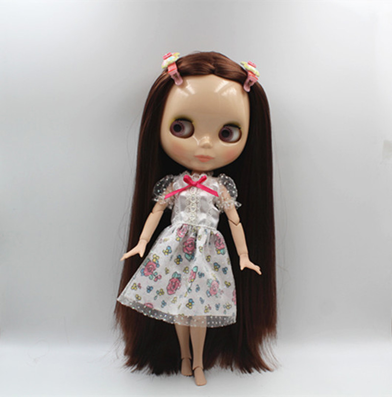 Free Shipping BJD joint RBL-363J DIY Nude Blyth doll birthday gift for girl 4 colour big eyes dolls with beautiful Hair cute toy free shipping bjd joint rbl 415j diy nude blyth doll birthday gift for girl 4 colour big eyes dolls with beautiful hair cute toy