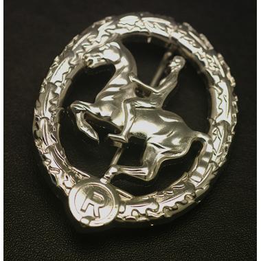 EMD Ww2  German Horseman's Badge In Silver1