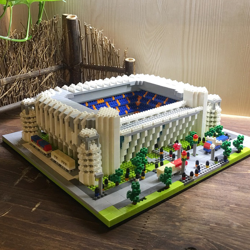 Image 2 - World Great Football No compatible legoed stadium Field building kit mini nanoed micro block Brick architecture Club Cup kid Toy-in Blocks from Toys & Hobbies
