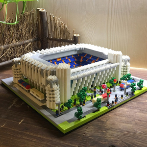 Image 3 - World Great Football Soccer Player Stadium Field Building Kit Mini Micro Block Brick Architecture Club Cup Kid Toy