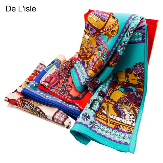 2017 Limitada Mulheres Da Índia Bufandas Lenços Hot-venda de Seda de Qualidade Personalidade Feminina Cavalo Grande Facecloth Dj08