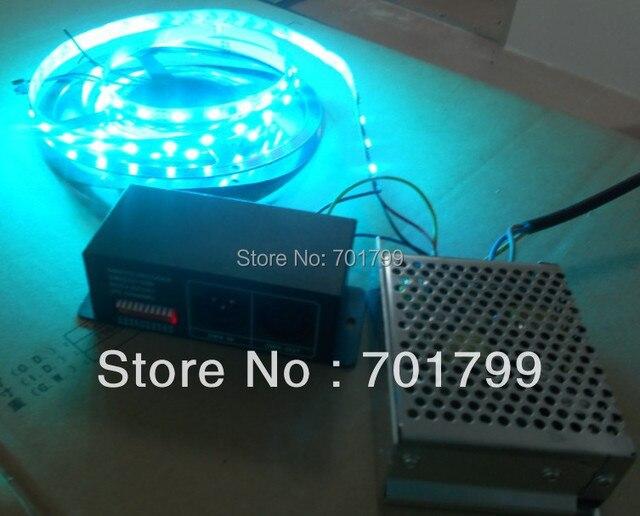 5m DC12V 48leds/m 16pixels led digital strip,non-waterproof + DMX to ws2811 convertor+60w power supply