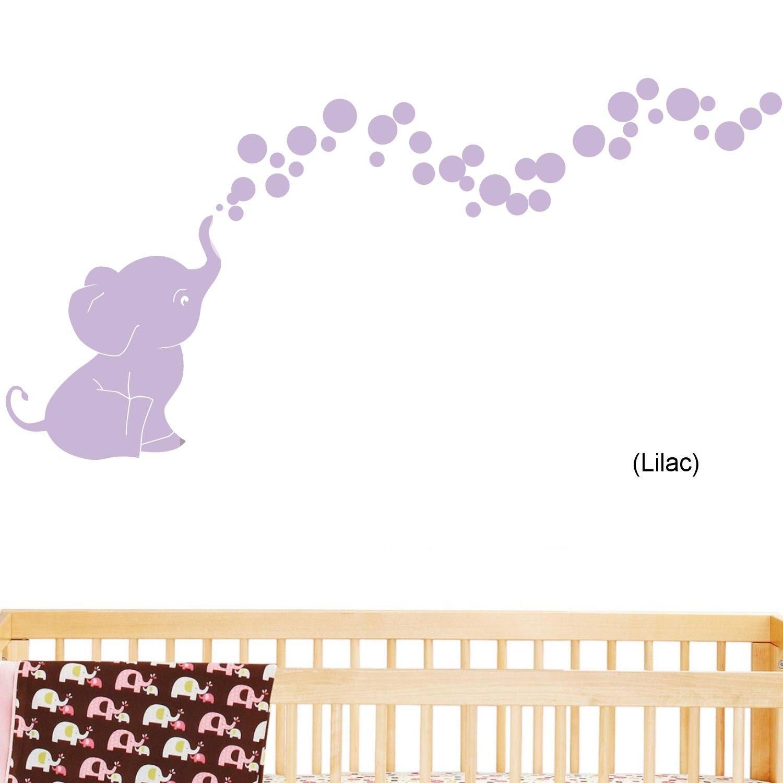 Aliexpress.com : Buy QT039 Elephant Bubbles Nursery Wall Decal Set ...