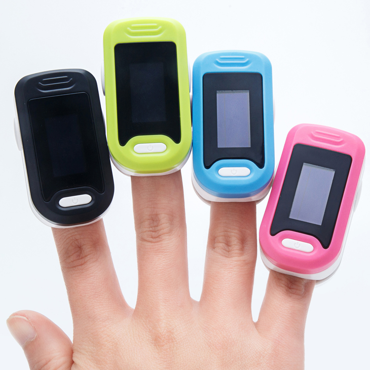 Children's oximeter fingernail tip clip pulse oximetry heart rate monitor monitor PI perfusion heart rate meter