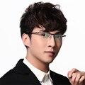 Очки кадров для мужчин очков кадр Pure titanium половина обод очки по рецепту кадров eyeware очки прозрачные линзы
