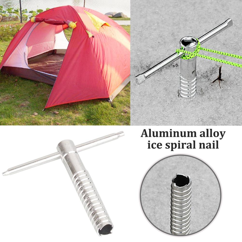 Outdoor Canopy Tent Expansion Nails Ice Muddy Beach Ice Snow Spiral Screw Camping Hiking Climbing Essential Tool High Quality