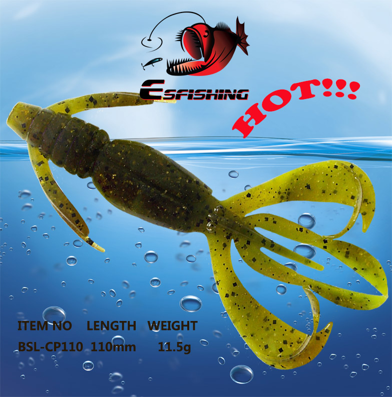 Soft Fishing lures Soft Lure Pesca Silicone Bait 5pcs 11cm/11.5g Esfishing Crazy Flapper 4.4