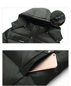 Image 5 - New Winter Jacket Men  15 Degree Thicken Warm Men Parkas Hooded Fleece Mans Jackets Outwear Cotton Coat Parka Jaqueta Masculina