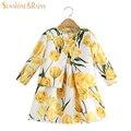 Sol chuva de primavera do bebê meninas define vestuário tulipa padrão floral crianças agasalho casaco meninas dress set crianças conjunto de roupas