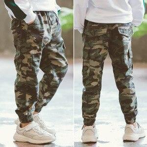 Image 3 - Chłopięce spodnie spodnie sportowe chłopięce spodnie kamuflażowe bawełniane 2020 wiosenne jesienne spodnie dla dzieci Boys Baby Casual spodnie 10 12 lat spodnie dla dzieci