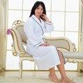 Vestaglia Mujeres del Color Sólido de La Manga Completa Waffle Batas Batas de Las Mujeres Para Mujer del Sueño Salón Robes ropa de Dormir