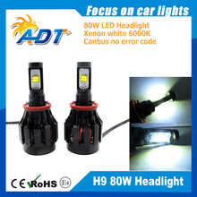 2PCS*40W 6000LM Aut Cr-ees LED H8 Car Headlights fog Lamp 6000-6500K All in One Aluminum Alloy Waterproof DC12-24V(China)