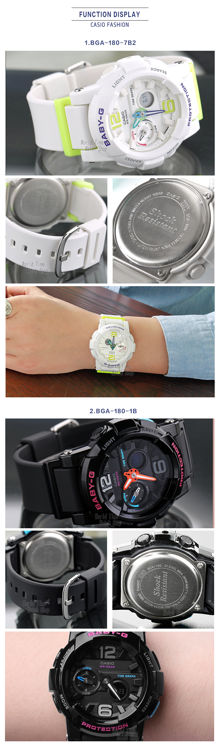 Casio Watch Tide Three Dimensional Electronic Sports Female Baby G Bga 180 2b Respect Of Customer Hello
