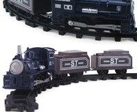 Zabawki dla dzieci puzzle montowane małe pociągu kolejowego pociąg elektryczny samochodzik samochodzik Dla Dzieci zestaw