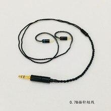 Bricolage écouteur câble OFC câble pour se535 mmcx broche ue900 se215 IM50 IM70 IE80 0.75MM 0.78MM broche câble court 45cm