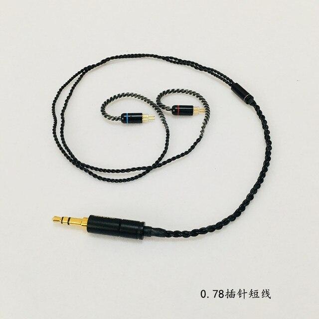 Cable OFC para auriculares, cable corto de 45cm para clavija se535, mmcx, ue900, se215, IM50, IM70, IE80, 0,75 MM, 0,78 MM