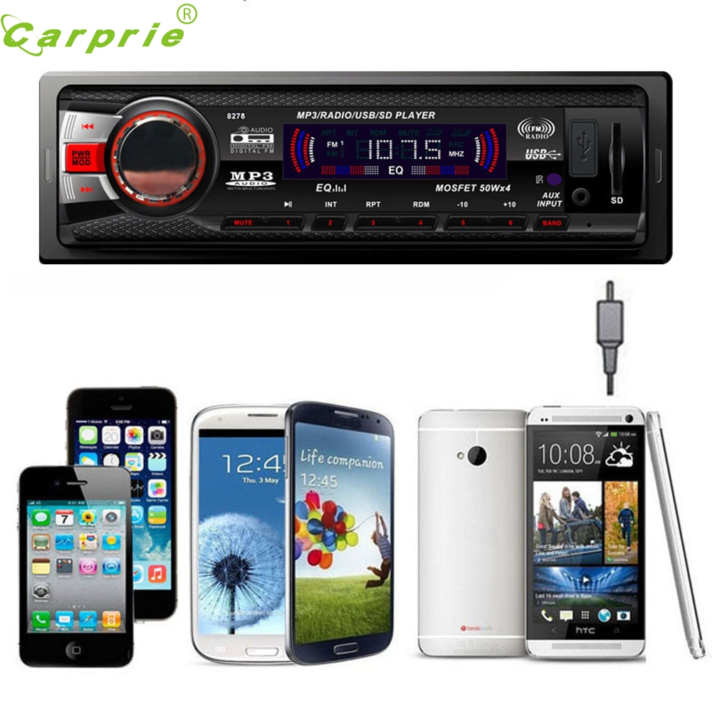 CARPRIE Super drop ship In Dash Car Audio Bluetooth Stereo Head Unit MP3/USB/SD/AUX/FM Input AUX Mar713