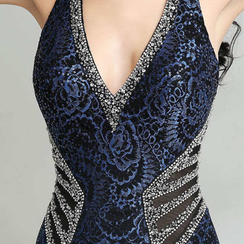 Elegant Gown Design Long Mermaid Evening Dresses Sexy V Neck Beading Women Plus Size Dress Hot Sale Formal Party Gowns LX235 5