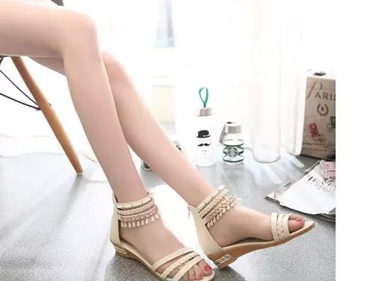 women sandals 2016 fashion Bohemia gladiator sandals women beading sandalias mujer wedges shoes for women 2016 new spring DT141 (4)