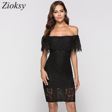 Women Dress Lace Backelss Summer Sexy Off the Shoulder Slash neck Sheath Dresses Hollow Out Party Club Nightout Female Vestidos