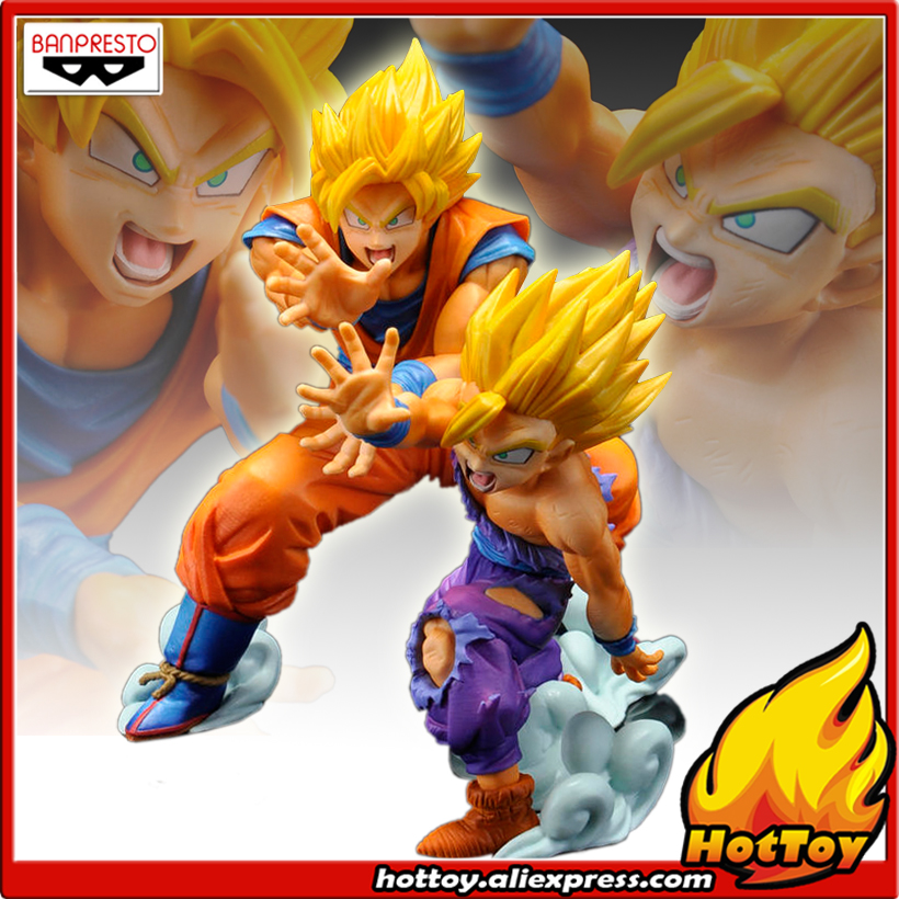 """100% oryginalny Banpresto's postawy polityczne w istnienie kolekcja rysunek SON GOKU i GOHAN od """"Dragon Ball Z"""" w Figurki i postaci od Zabawki i hobby na  Grupa 1"""