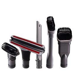 Próżniowe szczotka do czyszczenia głowy zestaw do mocowania próżniowego Tool dla Dyson v6 DC35/45/52/58/59/ 62/63 wielofunkcyjne narzędzie 4/5 sztuk w Miotły i śmietniczki od Dom i ogród na