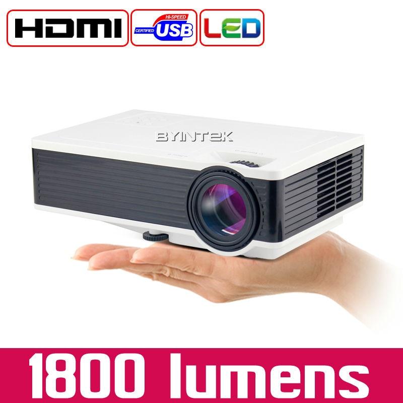 Home Theater ML217 BYINTEK Nueva USB 1800 lúmenes LED Digital Video Game Pico Mi