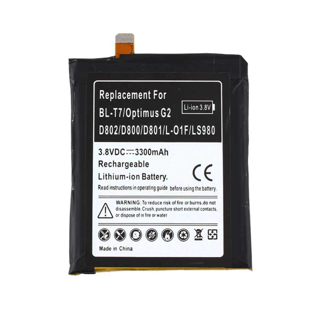 100% جديد أعلى قدرة 3300 مللي أمبير استبدال ليثيوم أيون بطارية ل LG أوبتيموس G2 BL-T7 D802 D800 D801 L-01F LS980 البطارية