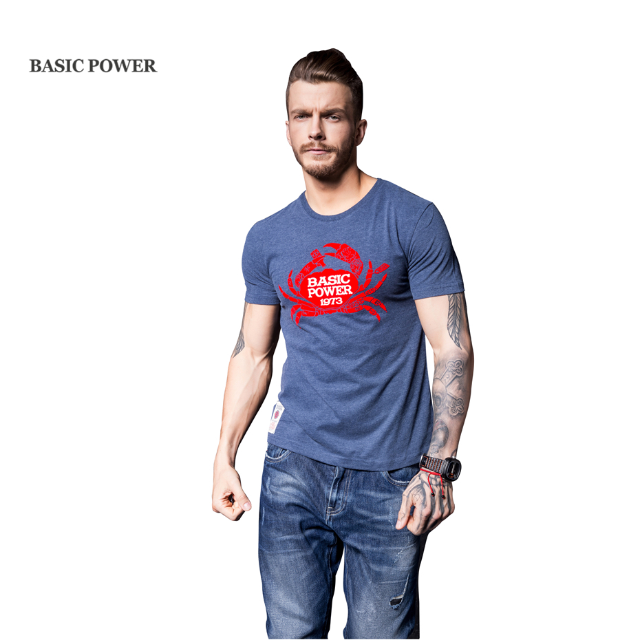 Basic power summer personality print t shirt men 2017 new for Latest shirts for mens 2017