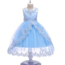Flower Girls dresses Baby Beaded Rhinestone Lace Tulle Princess Tutu Dress Embroidered Kids Ball Gown Pageant Wedding Dress long kids prom dress beaded ball gown dress for girls fantasia infantil para menina little girls pageant dresses 2 12 years