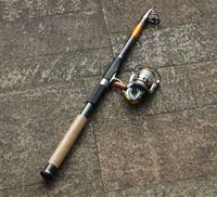 6 sections 3.0M Casting Carbon Fiber Fishing Rod + DC5000 Spinning Fishing Reel Set Kit Fishing Tackle