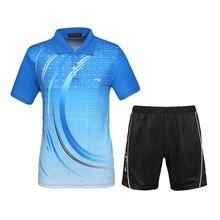 Мужские теннисные майки наборы дизайн спортивный костюм шорты с майкой дышащие быстросохнущие для бадминтона и настольного тенниса Спортивная одежда