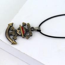 One Piece Necklace  Anchor Skull Logo