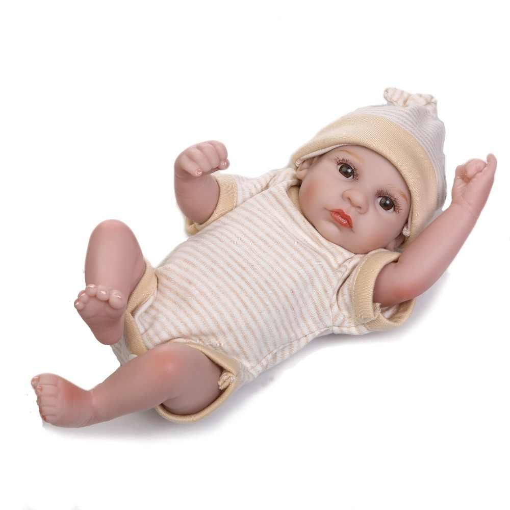 NPK reborn בובות תינוק מיני תאום רך אמיתי מגע תינוק בובות מתנה לילדים על יום הולדת