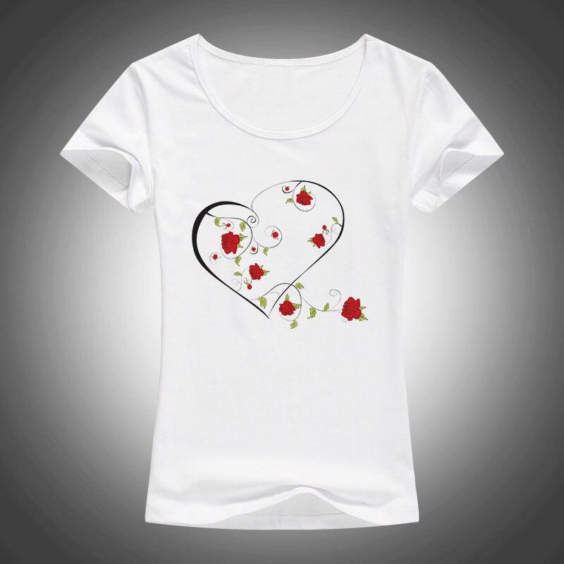 ljetna moda pamučne majice žene LJUBAV ruža vijenac tiskani O - - Ženska odjeća - Foto 2