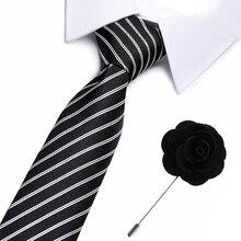 Drop shipping  Slim Tie Set Men and brooch Necktie Cravate Papillon Man Corbatas Hombre Pajarita