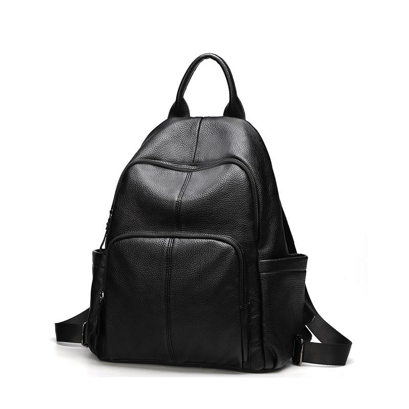 dbbf24ace2ba Sac Dos женский рюкзак высокое качество натуральной кожи рюкзаки для  девочек-подростков Для женщин школьная