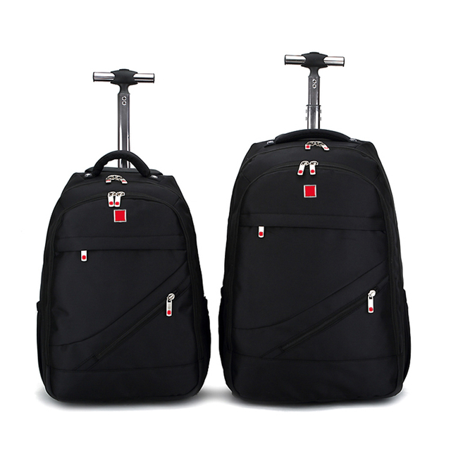 BeaSumore Shoulders Travel Bag 18 inch Student Rolling Luggage Backpack Business Trolley Large Capacity Cabin Suitcases Wheel
