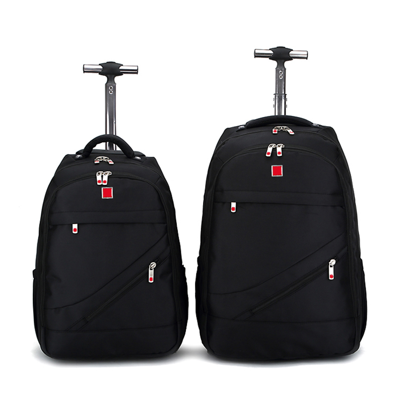 Shoulders Travel Duffle 18 iinch Student Rolling Luggage Backpack Business Trolley Large Capacity Cabin Suitcases Wheel black travel bag spinner suitcases wheel trolley business rolling luggage large capacity carry on cabin luggage backpack