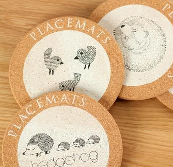 Visual Touch Cute Animal Cork Drink Coaster Retro Style Coffee Cup Mat Tea Pad 4 Style Table Decoration