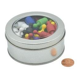 رسم دبوس الإبهام المغناطيسي في صندوق الرسم تاك متعددة الألوان لمكتب المنزل والمدرسة لوحة بيضاء إشعار فيكس 36-360 قطعة