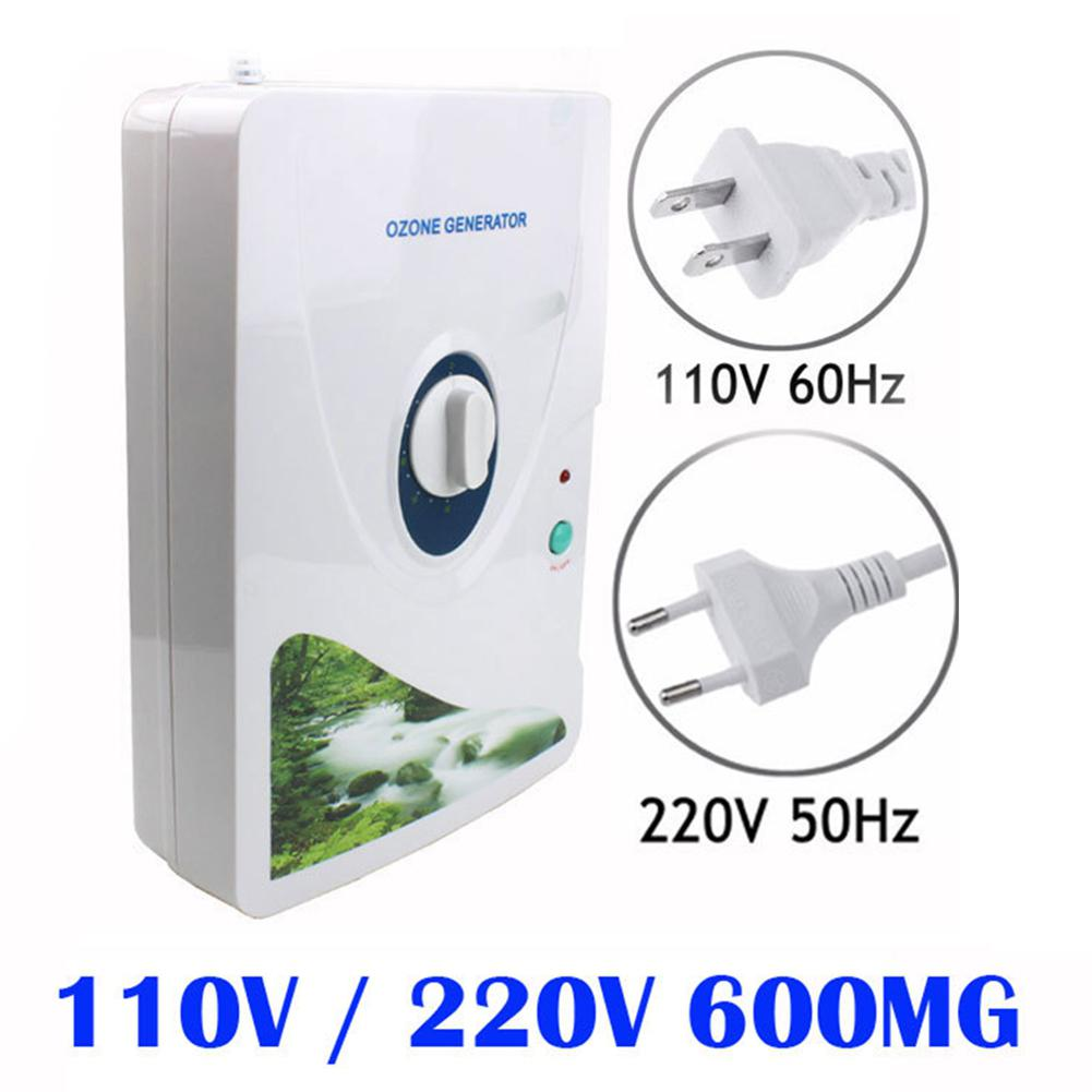 Adoolla 600MG/H Ozone Generator Air Purifier Water Food Sterilizer Home Appliances-40 dc 220v 10g h ozone generator double ceramic plate water air purifier sterilizer for home car ozone generator air sterilizer