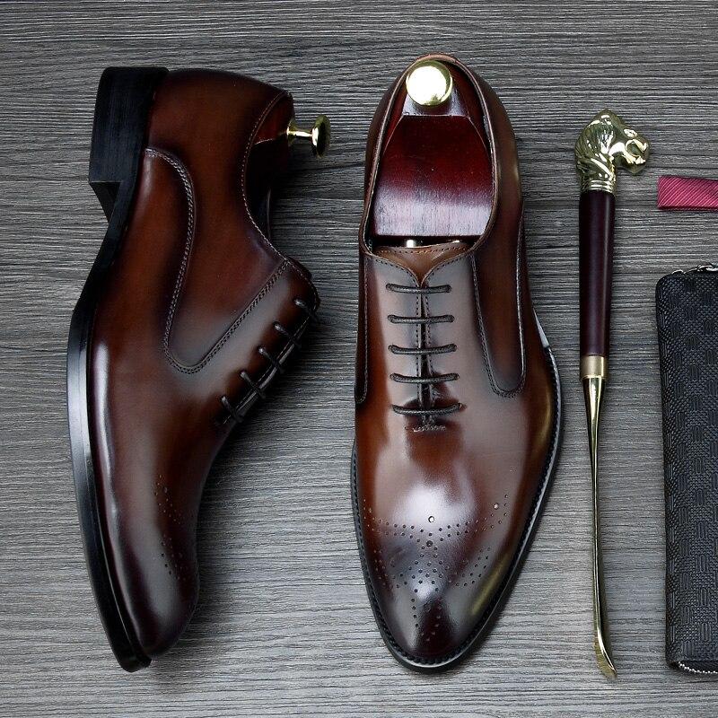Negócios Sociais Brogue Clássico Mycolen Couro Da Vestido New Sapatos De Moda Confortável brown Designer Black Homens Genuíno qvvYw56