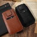 Mobile Phone Pouch Bag Man's Case Cover For iPhone 6 6s 7 7 Plus Universal Retro Vintage Leather Card Cash Slot Wallet Belt Bags