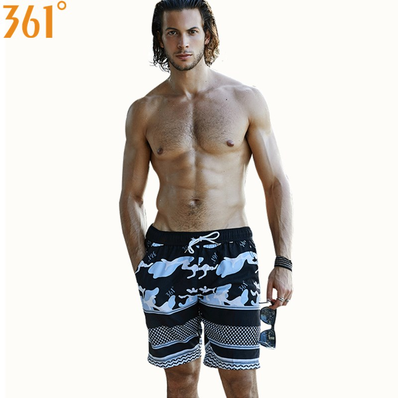 361 Men   Board     Shorts   Mens Swimming   Shorts   Surf Beach Pants Sports Quick Dry Men Swimming Trunks Boxer Swim suit Male Swim Wear