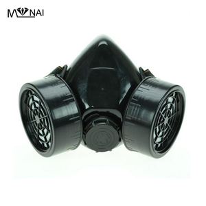 Image 1 - Steampunk Black Respirator 2 Canisters 1 Valve Rave Steam Punk Cos play Industrial Masks