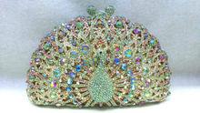 Freies verschiffen!! A15-43, bunte farbe mode top kristallsteinen ring handtaschen für damen nette parteibeutel